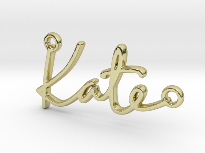 Kate Script First Name Pendant 3d printed