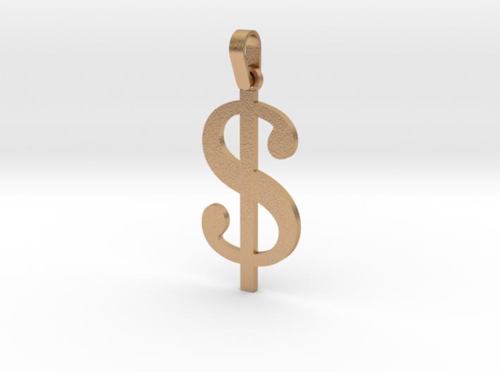 Dollar Sign Letter Pendant 3d printed