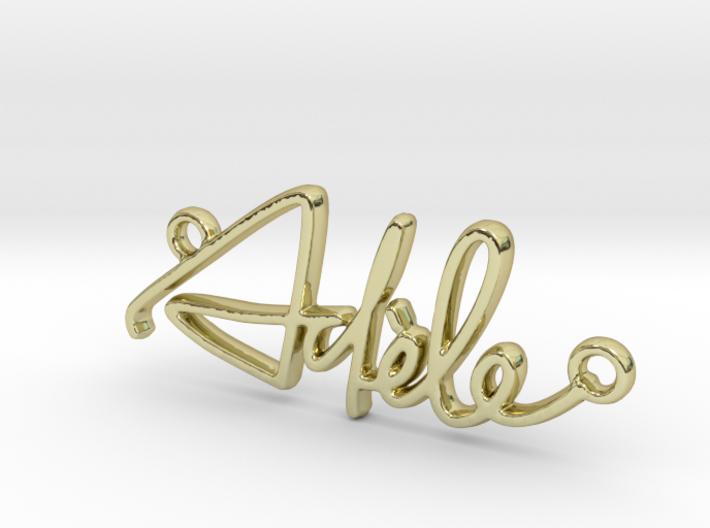 Adèle Script First Name Pendant 3d printed