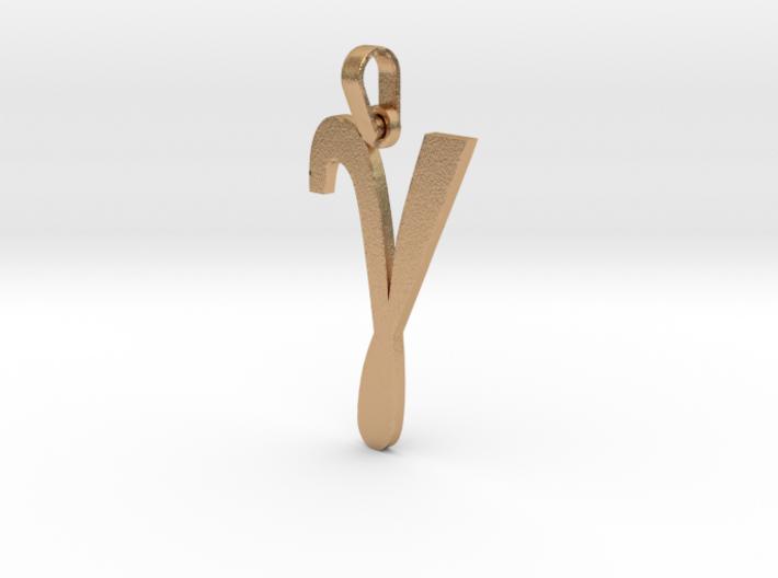 Gamma Sign Pendant V2 3d printed