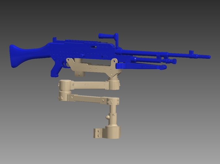 M240 articulated arm 1/12 3d printed
