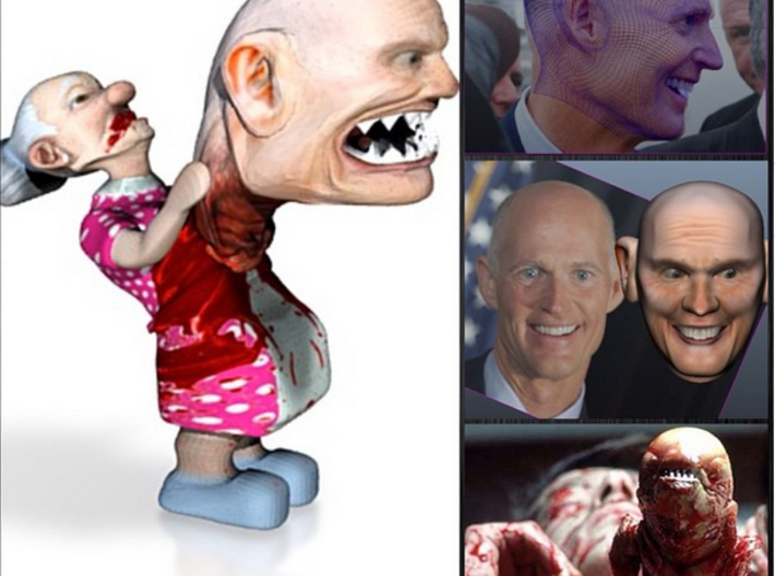 Rick Scott Florida's ChestBuster 3d printed