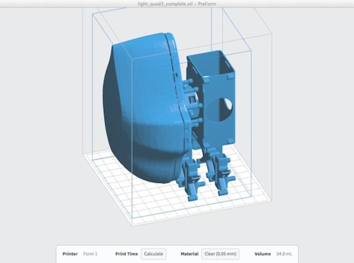 LightQuad3 Quadrotor drone 3d printed PreForm screenshot of this model