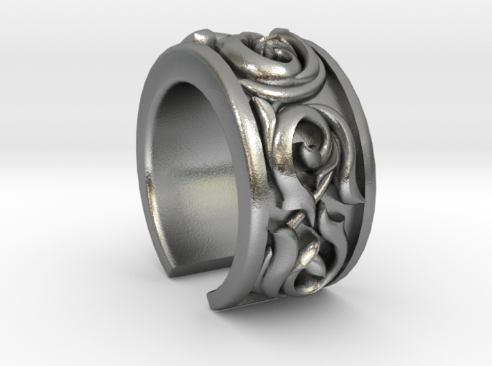 Japanese Pattern Open Ring 3d printed