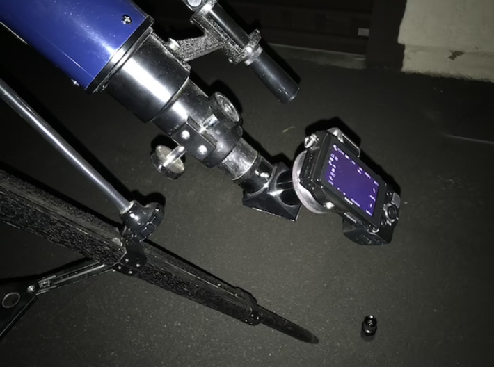 """Sony E-Mount to 1.25"""" Telescope Adapter 3d printed On my telescope"""