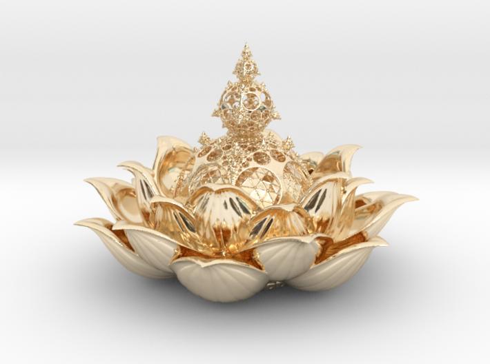 Fractal lotus V 0.2 3d printed