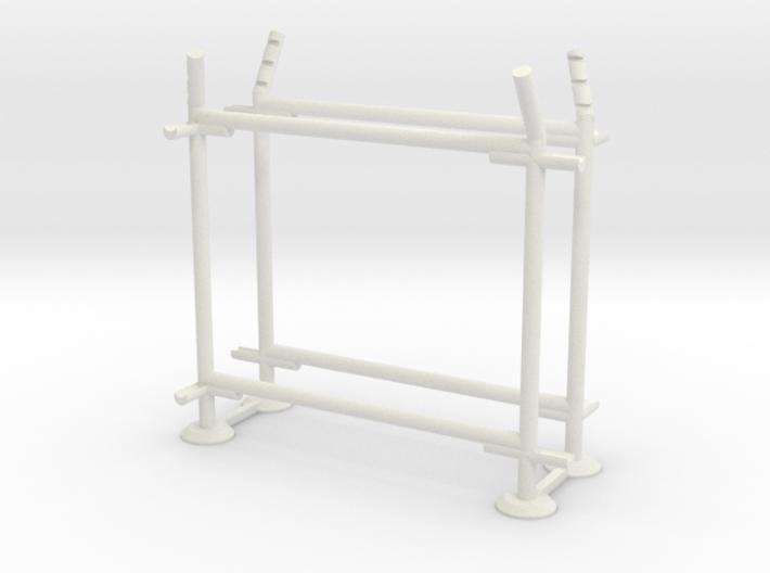 10' Fence Frame - 90 deg R/ In (2 ea.) 3d printed Part # CL-10-006