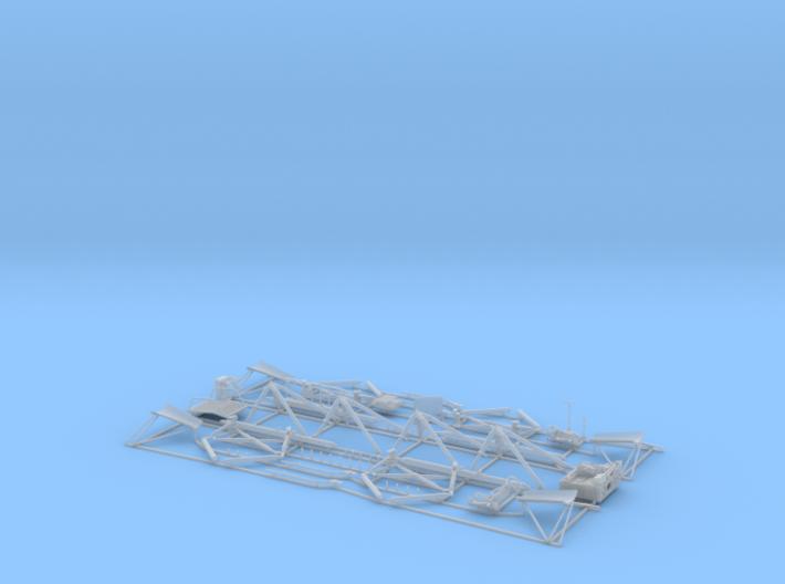 Lunar Module Descent Stage - Fine Detail Plastic P 3d printed