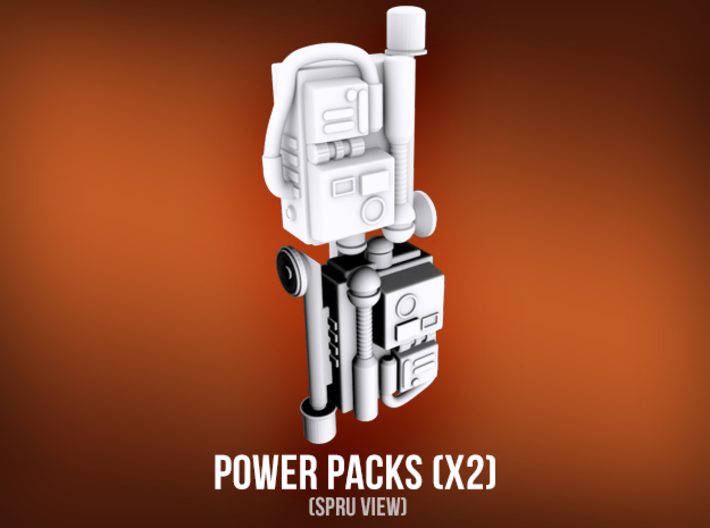 Power Packs (x2) 3d printed