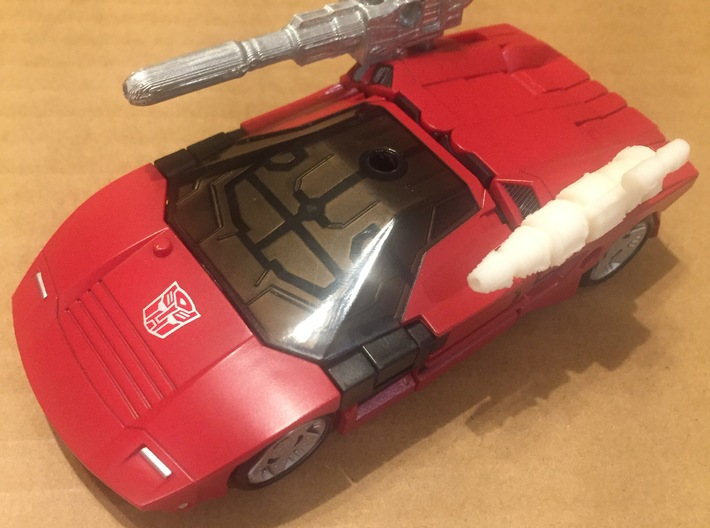 TF WFC Siege Sideswipe Weapons 3d printed