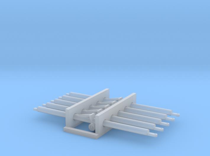 1:87 5x Aircraft Towbar 3d printed