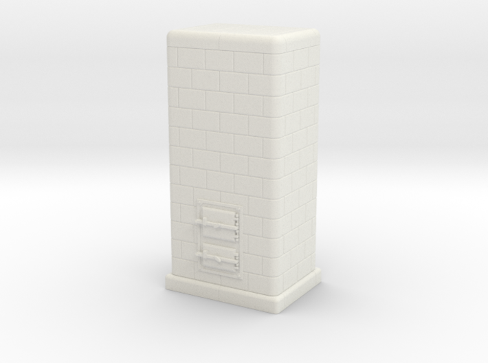 H0 Tiled coal-burning stove 1:87 (I) 3d printed