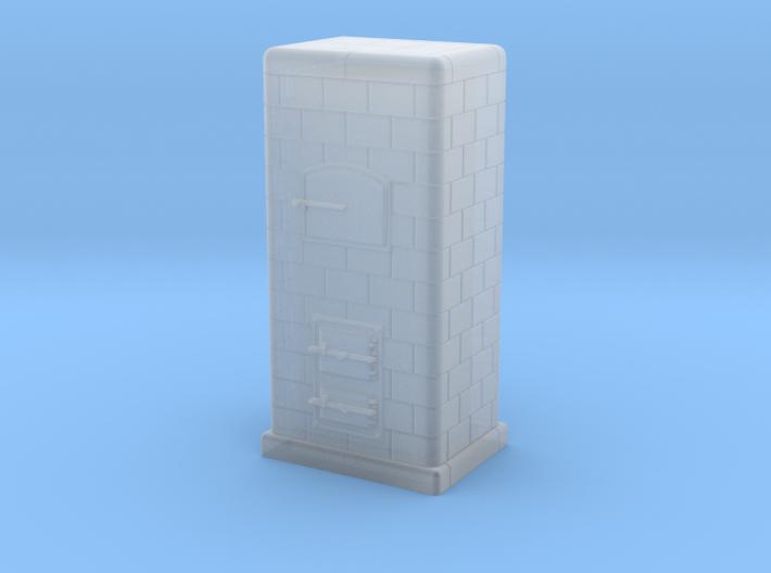 H0 Tiled coal-burning stove 1:87 (Id) 3d printed