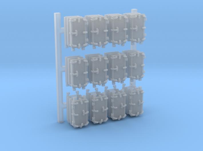"1/192 Royal Navy 4.7"" Ready Use Lockers (Med) x12 3d printed 1/192 Royal Navy 4.7"" Ready Use Lockers (Med) x12"