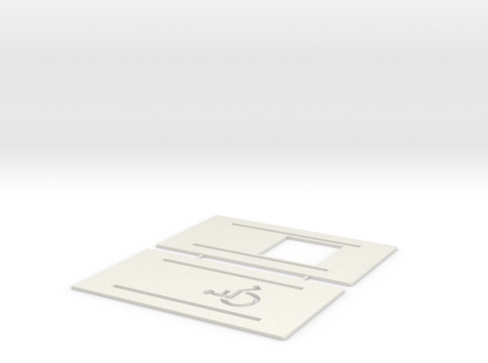 Handicap Parking Templates (HO) 3d printed Part # HP-001