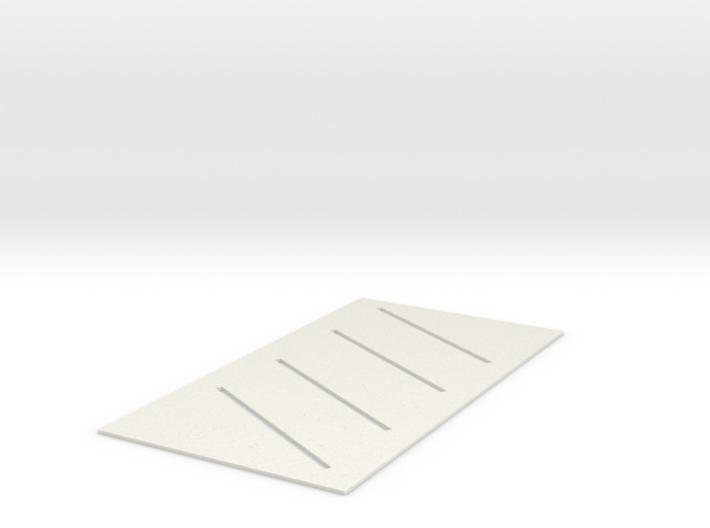 Diagonal Parking Spaces (HO) 3d printed Part # PS-002