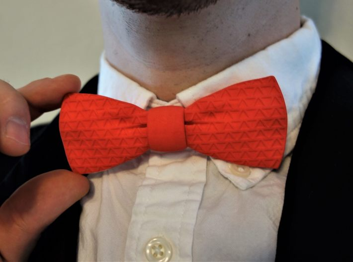 The Tri Bow Tie 3d printed The Tri Bow Tie is beautiful in red