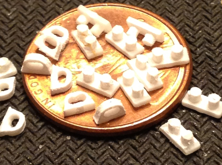 Chocks Bitts Z Scale 3d printed 24 each Closed Chocks and Bitts z Scale