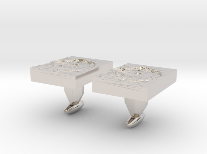 Moon Crater Cuff links 3d printed