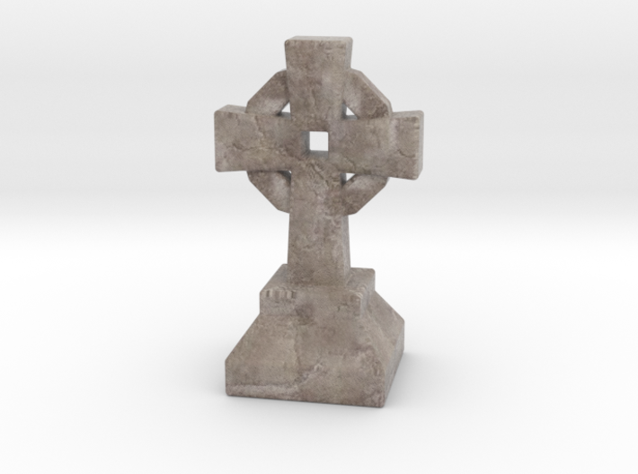 Miniature Stone Cross 03 3d printed