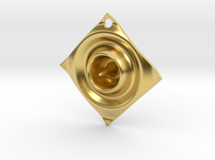 Cosine Ripple Earring or pendant 3d printed