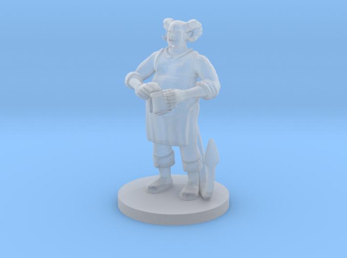Tiefling BarKeep 3d printed