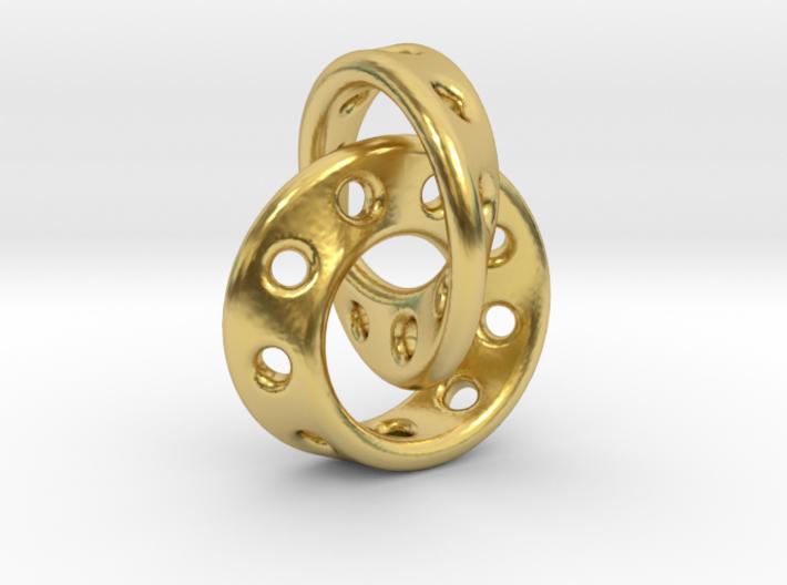 Möbius Band pendant interlocked 3d printed