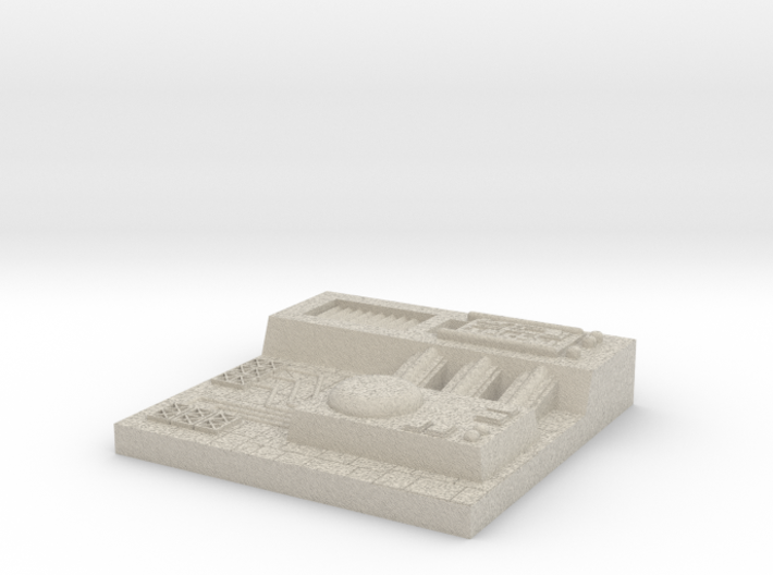 5 inch Death Star Tile (Style G) 3d printed