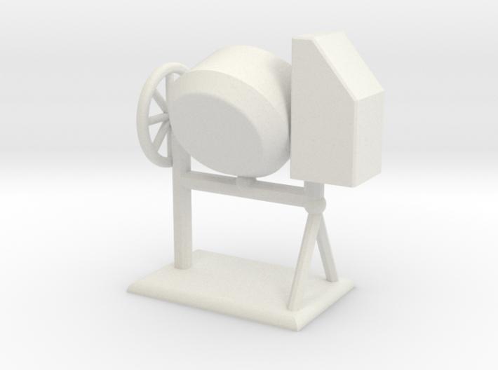 Zementmischmaschine Betonmischer Zementmischer 1:1 3d printed