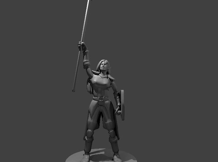 Female Elven Storm Cleric 3d printed