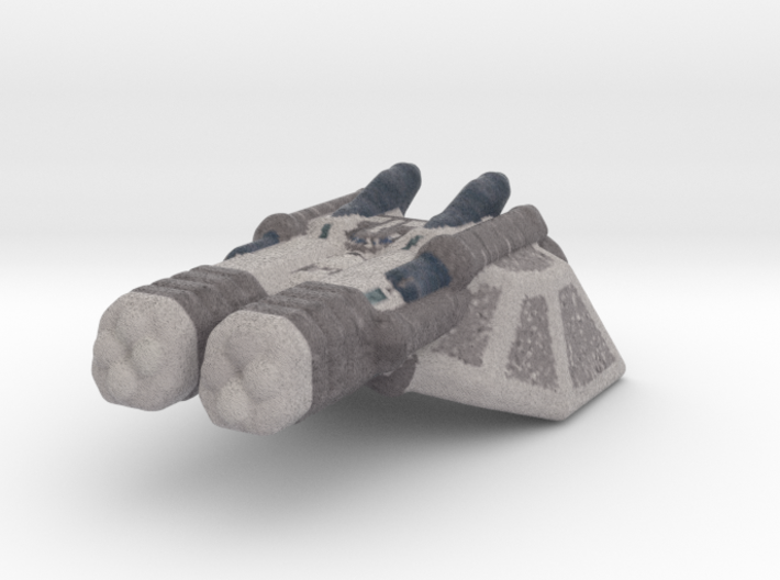Cruiser spaceship color 3d printed