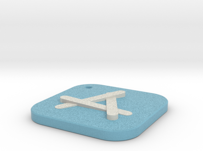 iOS Appstore Keychain 3d printed
