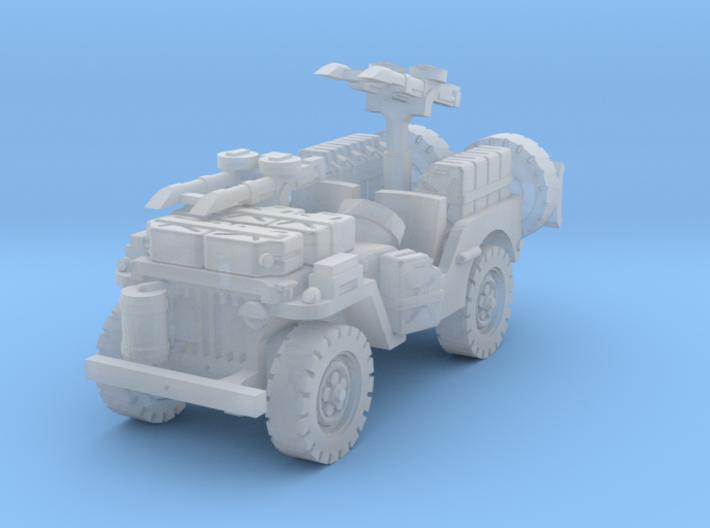 SAS Jeep scale 1/144 3d printed