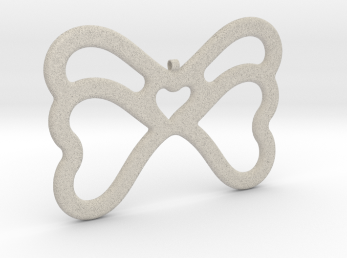 Butterfly Pendant / Necklace-21 3d printed