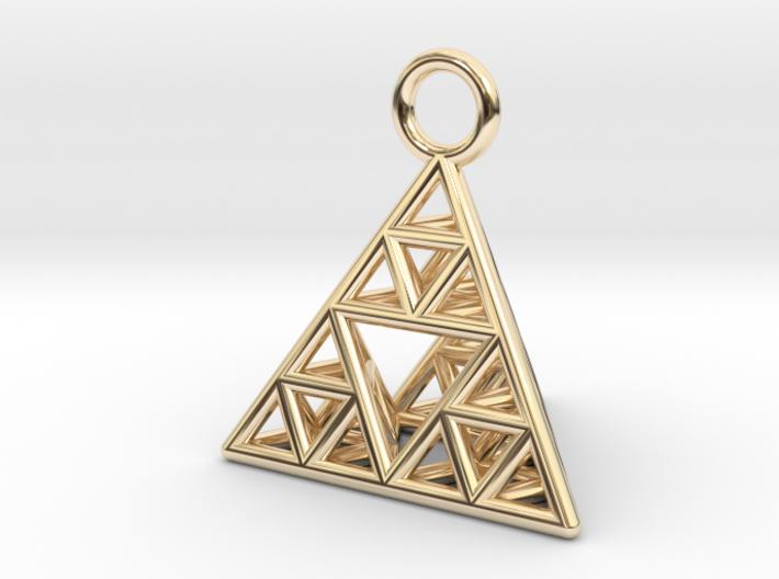 Sierpinski Tetrahedron earring with 16mm side 3d printed