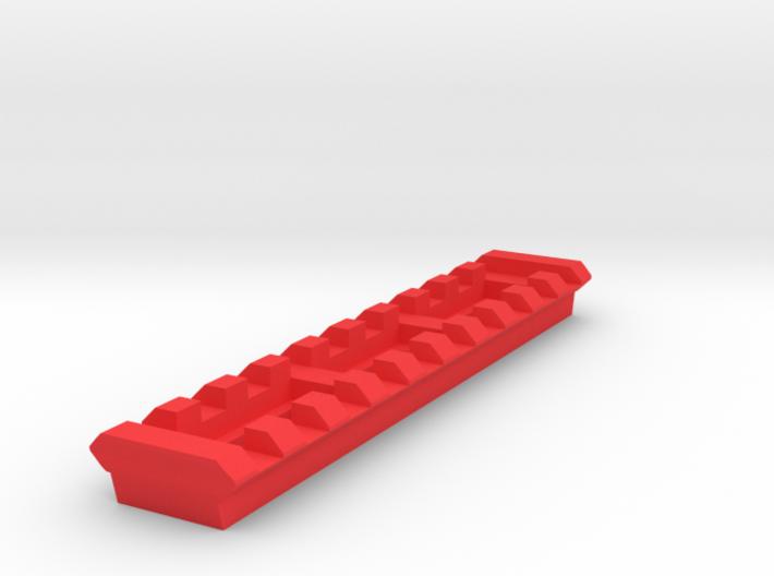 10 Slots Picatinny Rail (Pre-Drilled) 3d printed