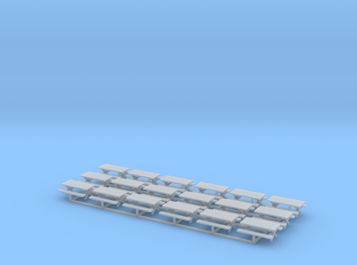 Picnic Tables Z Scale 3d printed 18 Picnic Tables Z scale
