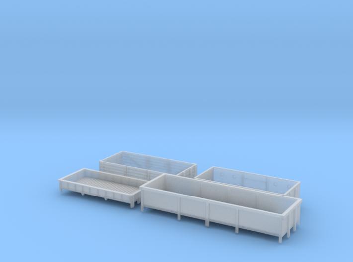 BR open wagons 3d printed