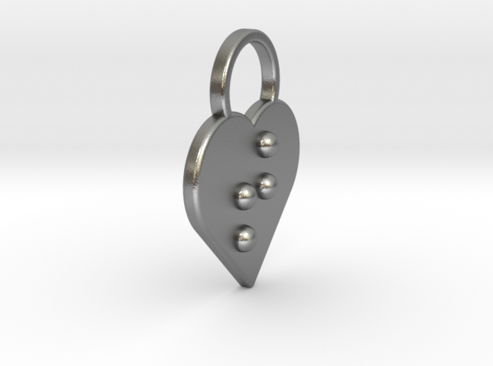 """""""t"""" Braille Heart 3d printed"""
