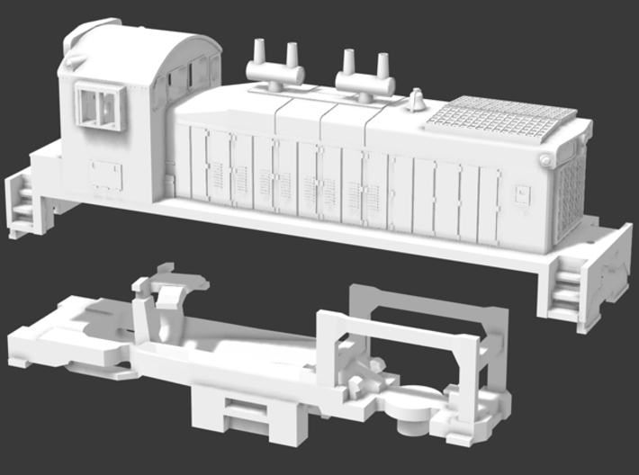 Z Scale SW1200 Canadian National Style  3d printed