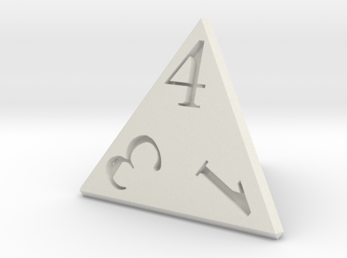 D4 Dice 24mm edge length 3d printed