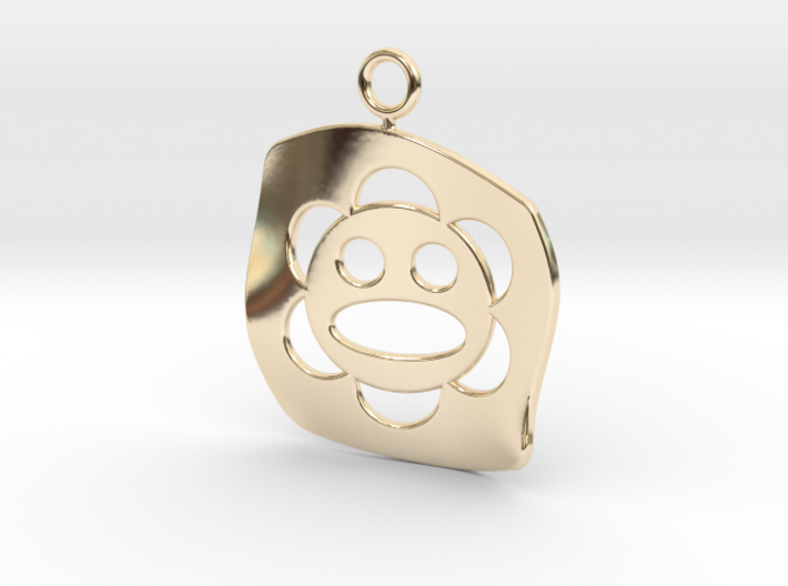 Taíno Sol earring or pendant 3d printed