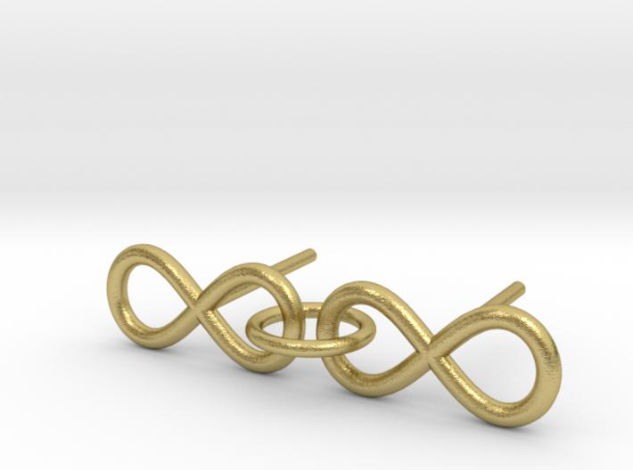 Infinity Earrings 3d printed
