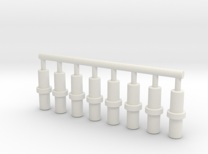 5mm Double-Ended Pegs 3d printed