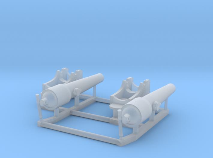 2 X 1/192 Navy Parrott 150 lb Rifled Cannon 3d printed
