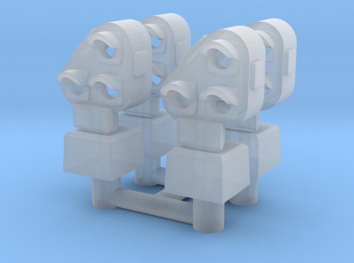N NS gekanteld dwergsein 4 stuks 3d printed