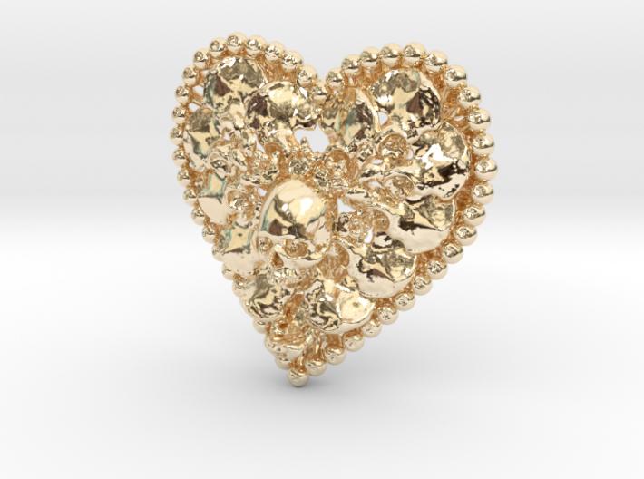 Heart Bone Pendant 3d printed