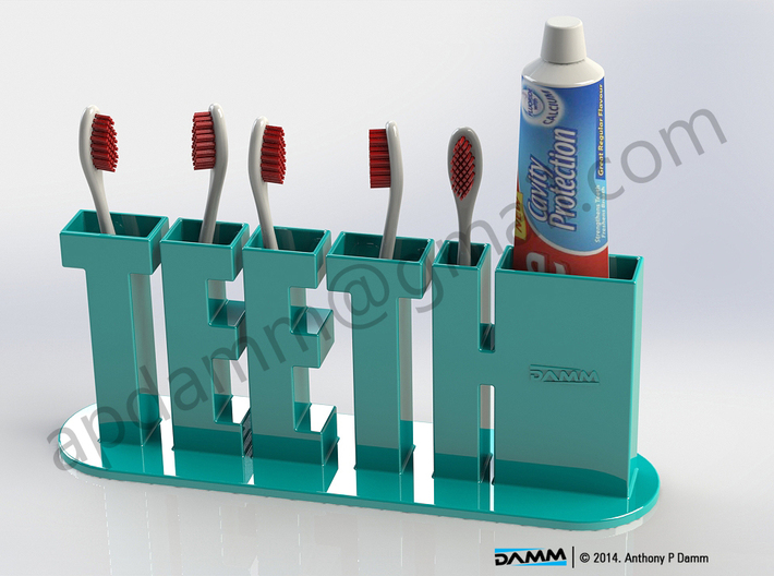 TEETH Toothbrush Holder 2014 3d printed
