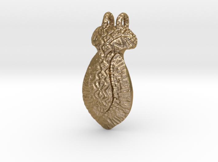 Hand Sculpted Pendant - Worked Metal Appearance 3d printed