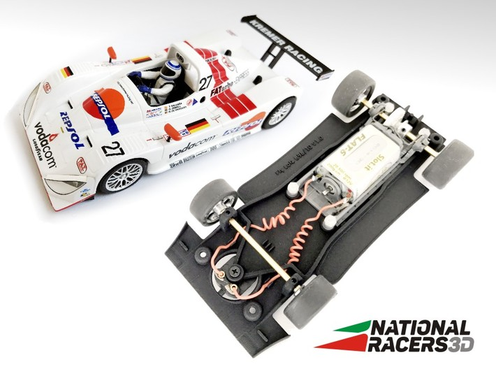3D Chassis - Fly Lola B98/10 - Inline 3d printed Chassis compatible with Fly model (slot car and other parts not included)
